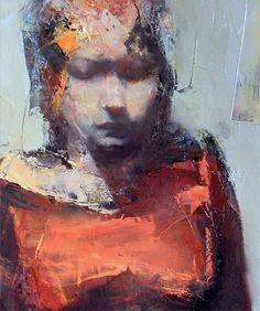 Palette knife portrait by Paul W. Ruiz