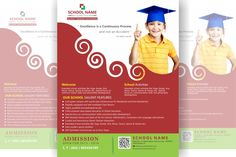 free  school  flyer design Education  ize: letter size (8.5 X 11 inch) Resolution: 300 dpi Color mode: CMYK Layered File File formats: PSD, AI, CDR, PDF