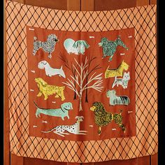 Dogs + mid-century design = a most excellent silk scarf.
