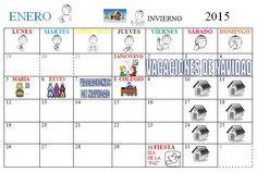 Calendario del mes de Enero