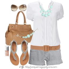 Grey White and Aqua :)