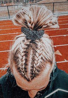 Cute Braided Hairstyles, Teen Hairstyles, Athletic Hairstyles, Cute Sporty Hairstyles, Hairstyles Videos, Hairstyles With Braids, Running Hairstyles, School Hairstyles, Relaxed Hairstyles