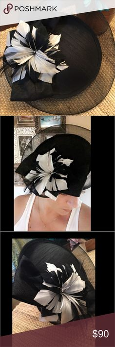 Kentucky Derby Fascinator Black and White, very thin head band (didn't give me a headache). Worn one time. ANTONIO MELANI Accessories Hats