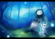 """""""The Moon Grotto"""" Ori and the Blind Forest fan art by dayylights on @DeviantArt"""