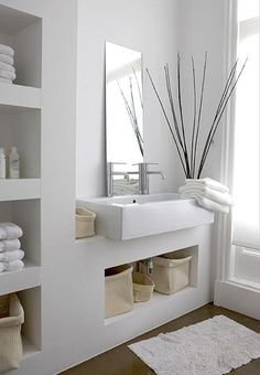 Clean #White #Bathroom. http://www.remodelworks.com/