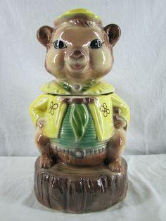 Bear Cookie Jar by Maddux of California