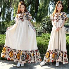 Anysize with pockets soft linen&cotton dress plus size dress plus size clothing Spring Summer dress Spring Summer clothing loose dress Large & detailed images by clicking on Spring Dresses, Spring Outfits, Maternity Dresses Summer, Abaya Fashion, Fashion Dresses, Plus Size Dresses, Plus Size Outfits, Casual Dresses, Girls Dresses