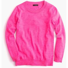 J.Crew Tippi Sweater ($72) ❤ liked on Polyvore featuring tops, sweaters, merino sweater, j crew tops, merino wool sweater, j crew sweaters and pink top