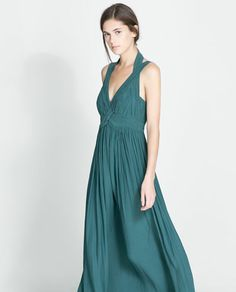 Image 2 of LONG GATHERED DRESS from Zara All about this for the next ball I attend [[AC]]