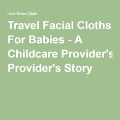 Travel Facial Cloths