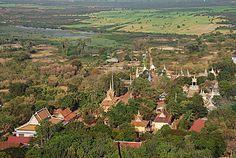 Du haut de la colline Phnom Sampeu