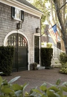 American flag? Check.  Grey shingled house with white trim?  Check.  Me?  Someday.