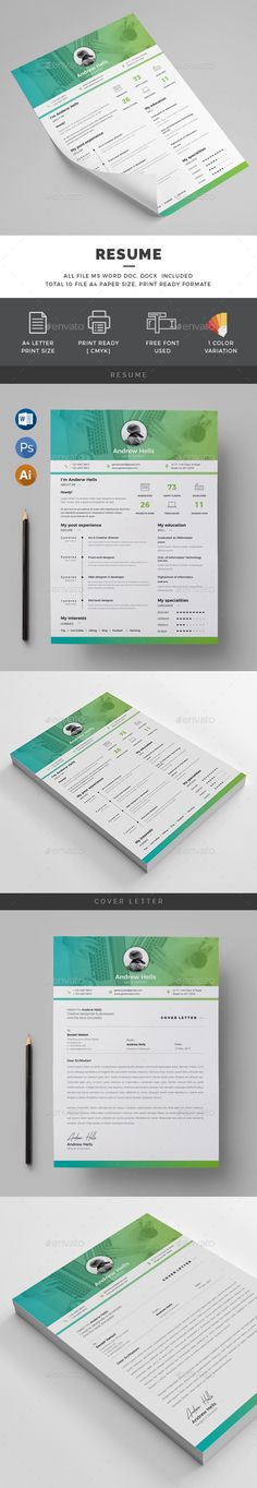 Resume Resume cv, Ai illustrator and Simple resume template - graphic design resume template download