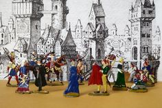 Heinrichsen, invånare i en medeltida stad