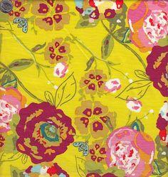 Art Gallery Fabrics LillyBelle Garden Rocket in Ruby. $9.00, via Etsy.