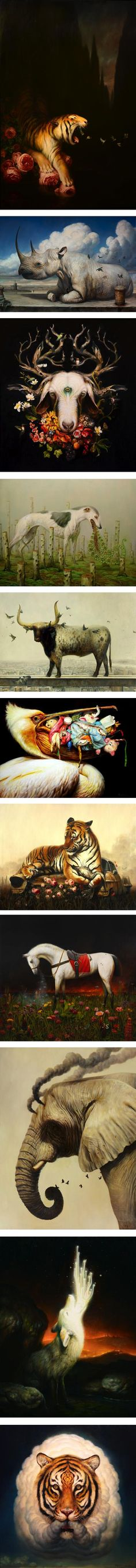 Martin Wittfooth (update) | Lines and Colors :: a blog about drawing, painting, illustration, comics, concept art and other visual arts