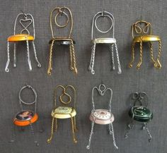 Make something new and cute from the old year! Champagne Lid Chairs