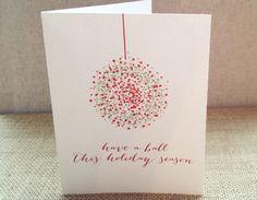 Ornament Christmas Greeting Card ©2013 DesignCorral.com #freeprintables #christmascards #freechristmas