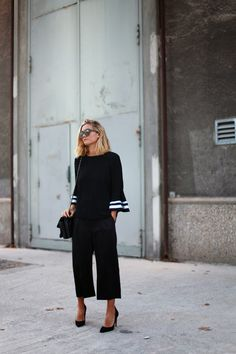 How to wear culottes in a sporty way on Sunday : MartaBarcelonaStyle's Blog
