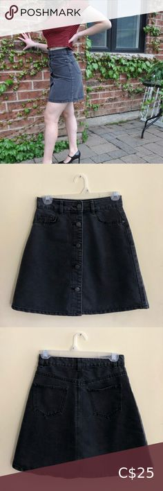 Dark Denim Button Skirt DON'T SLEEP ON THIS DEAL! This Noisy May denim / jean skirt is chic and edgy with real buttons and belt loops! Dress it up or down! 💎 All purchases are washed before shipping and come from a quarantined home :) 💎 Jean - denim - skirt - cute - edgy - chic - bundle - sale - deal - trendy - hot - urban - casual - classy - fancy - juniors - teen - xxs - xs- small - popular Noisy may Skirts Circle & Skater Jean Skirt, Denim Skirt, Denim Jeans, Fan Shirts, Button Skirt, Edgy Chic, Black Joggers, Dark Denim, Striped Dress