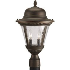 Progress Lighting P5434-20 2-Light Post Lantern, Antique Bronze by Progress Lighting. $92.57. From the Manufacturer                For a classic look that complements a variety of styles, the Westport collection delivers. Cradling clear seeded glass, die-cast aluminum frames feature a durable powder-coat finish to enhance fine detailing. 2-Light Post Lantern                                    Product Description                Progress Lighting P5434-20 2-Lt. Post Lantern Antiq...