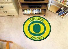 Round University of Oregon Ducks Floor Rug