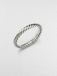 David Yurman - Sterling Silver Cable Stackable Ring  I want this as a thumb ring!
