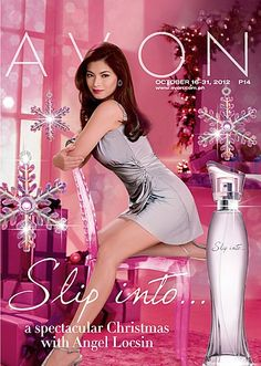 "Slip Into... a spectacular Christmas with Angel Locsin.    This season, be at your most sensual with a new fragrance that transforms every woman...    Slip Into... an alluring holiday mood. Our Christmas Angel returns as the face of this sensual sophisticated scent. ""Wearing Slip Into... is like wearing my favorite pair of high heels. I spray it on when I'm getting ready to go out for the evening. It makes me feel elegant and confident.""  Check out our October 16-31 brochure"