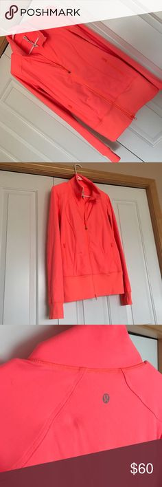 EUC Coral Lululemon Athletica Zip up Jacket Size 8 EUC Coral Lululemon Zip up Jacket Size 8 • Ships fast from smoke free home • SPRING CLEANING SALE • Bundle & Save!!! lululemon athletica Jackets & Coats