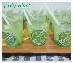 Projeto e confecção de brindes sabonete caipirinha - Laly Blue - Projeto pessoal