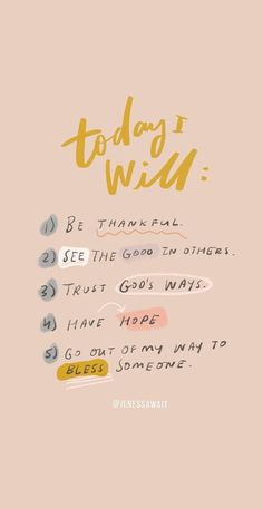 A good five-step reminder when you're having a tough day! quotes quotes about love quotes for teens quotes god quotes motivation Hope Quotes, Self Love Quotes, Quotes To Live By, Today Quotes, Inspirational Quotes For Today, Be Good Quotes, Inspirational Instagram Quotes, Christian Motivational Quotes, Everyday Quotes