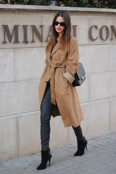 Zina trenching it. Madrid. #Fashionvibe