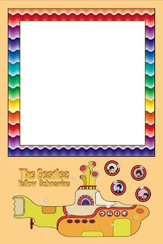 Imprimibles Submarino Amarillo (Beatles).