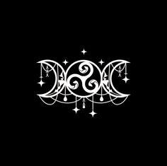 Triple Moon Goddess, Triple Goddess Symbol, Goddess Symbols, Goddess Art, Body Art Tattoos, Cute Tattoos, Small Tattoos, Tatoos, Witch Tattoo
