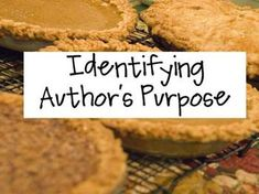 authors purpose essays