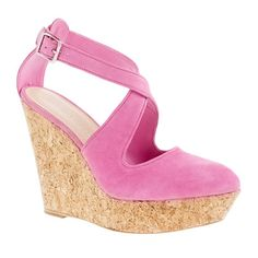 Oh, dear. I don't know how I'd keep them clean, or afford them, for that matter. But, I love them none the less. Loeffler Randall® wedge sandals from J. Crew, $375
