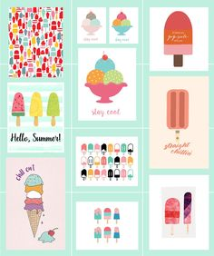 In which I round up ice cream free printables perfect for incorporating into your summer gallery walls or seasonal decor. Who doesn't love ice cream! Ice Cream Theme, Love Ice Cream, Ice Cream Pictures, Ice Cream Poster, Binder Organization, Free Graphics, Summer Art, Printable Wall Art, Gallery Walls