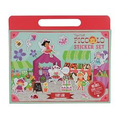PICCOLO STICKER FAIRY - $11.95 - New and improved Piccolo Sticker Sets have 4 fantastic scenes to decorate with 100 coloured reusable stickers and 100 black and white stickers that can be decorated and coloured-in using the 10 coloured markers included in each set. #sweetcreations #kids #girls #fairy #gifts #TigerTribe