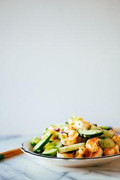 shrimp cucumber salad