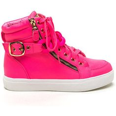 Chained To My High-Top Sneakers NEONPINK