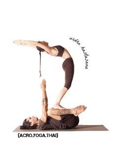 (ACRO.YOGA.THAI) Acroyoga poses from our book :) yoga asana: urdha hastasana