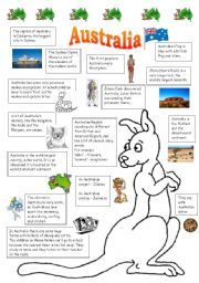 English teaching worksheets: Australia
