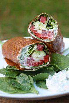 Raw Ranch Veggie Wraps - raw Food Diet - http://acidrefluxrecipes.com/raw-ranch-veggie-wraps-raw-food-diet/