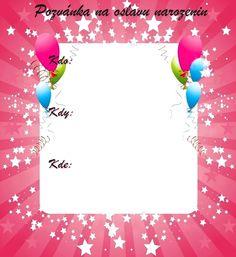Pozvánky na oslavu narozenin - vzory - Oslavy-party.cz - oslavy plné zábavy! Origami, Cards, Origami Paper, Maps, Playing Cards, Origami Art