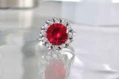 HSN Wendy Hill Designs Simulated Ruby 925 Sterling Silver Ring Size 9 #WendyHillCollection #Cocktail #Christmas #HSNJewelry #HSN #WendyHillDesigns #JacquelineKennedy