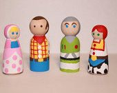 Toy Story Wooden Peg Dolls