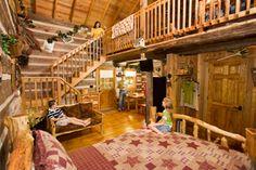 Branson Log Cabin Rentals At The Wilderness, Silver Dollar City Cabins