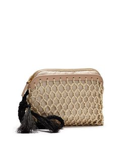 Macrame Nylon Wristlet, Beige by THE ROW at Bergdorf Goodman.