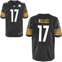 e5a31604120 Nike Pittsburgh Steelers Mike Wallace  17 Men Elite Black NFL Jersey Sale nfl  jersey 4xl