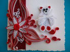 Quilling Christmas card, Chrismas card, Quilled Chrismas card, Quilling Art chrismas card, Paper Quilling, de HandmadeTedy en Etsy
